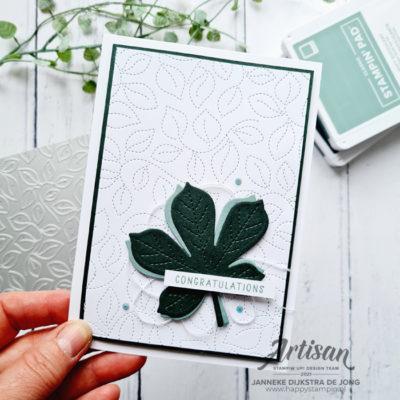 Stitched Greenery – Congratulations